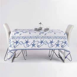 sea stars blue polyester transfer printed table from China (mainland)