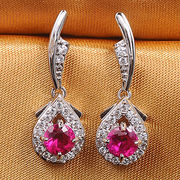Fashion ruby stud earrings from China (mainland)