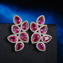 Ruby earrings from China (mainland)