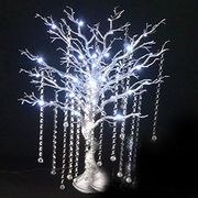 LED artificial tree with crystal beads for party or wedding table decoration
