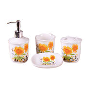 Elegant Hotel Ceramic Colorful 4 PCs Bathroom Set from China (mainland)