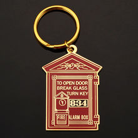 China Gold plating soft enamel filling logo metal keycha
