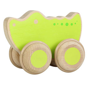 Kids wooden classic toy car
