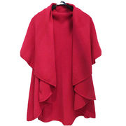 New lady's cashmere knit poncho from Inner Mongolia Shandan Cashmere Products Co.Ltd
