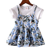China Children's short-sleeved dress,made of Chiffon,OEM orders are welcome