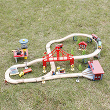 Children's wooden rail cars game toy from China (mainland)