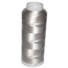 Multicolor rayon embroidery thread on cones