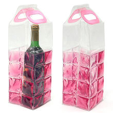 Reusable Transparent Pink Wine Bottle Coolers with Nontoxic Gel, Chilled Even Under Room Temperature from Cheng House Enterprise Co Ltd