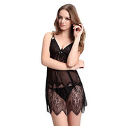 Babydolls made of lace,available size S,M,L,XL,accept customize from Meimei Fashion Garment Co. Ltd
