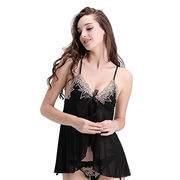 Hong Kong SAR Babydolls made of lace,available size S,M,L,XL,accept customize