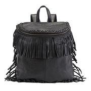 Fashion PU Fringe Daypack Ladies Tassel Backpack W Manufacturer
