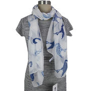 Printed style Scarf, Made of 100% Polyester from Hangzhou Willing Textile Co. Ltd