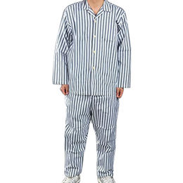 Blue and white patient gowns cotton blend