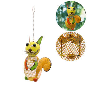 Newest Hand painted Metal Bird feeders Squirrel Fi from China (mainland)