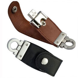 Promotional Leather USB Flash Drive, Customized Logos are Accepted from Memorising Tech Limited