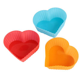 Heart shape cake molds, silicone material, small quantity accepted