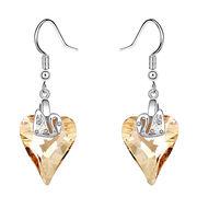 Love Design Platinum plated for Women's Austria Crystal Stud Earrings
