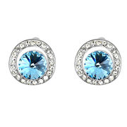 Perfect Love Design Platinum plated for Women's Austria Crystal Stud Earrings