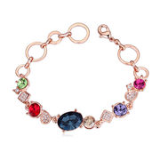 China Luxury Design, Champagne Gold-plated, Austria Crystal Bracelets for Women