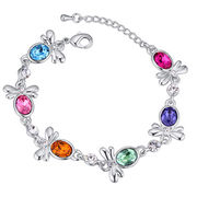 China Cute Bee Design, Platinum-plated, Austria Crystal Bracelets for Women