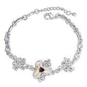 China Fashion Design Platinum-plated Austria Crystal Bracelet for Women