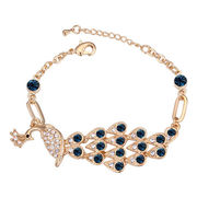 China Luxury Peacock Design, Champagne gold-plated, Austria Crystal Bracelets for Women