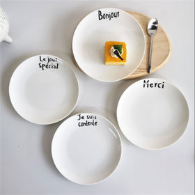 China Porcelain cake and dessert plate