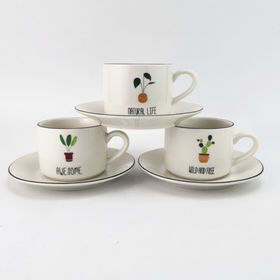 Coffee cup and saucer from China (mainland)