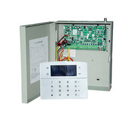 TCP,IP,GSM Network Alarm Systems Supports 8 LCD Glass Touch Keypads Local Upgrade