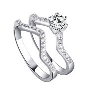 Women Sterling Silver Set Rings from China (mainland)