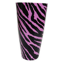 India Pink Zebra Pattern Bar Shaker, 28oz