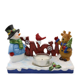 China Wholesale New Christmas decor,Santa&Deer Candle Holder,Made of Polyresin,Ordered by Walmart USA