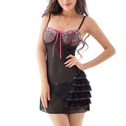 Babydolls made of lace, available size S, M, L, XL, accept customized from Meimei Fashion Garment Co. Ltd