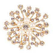 Crystal brooch from China (mainland)