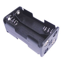 Battery Holder for 4 x AA Cells, PP Resin in Black Color from Comfortable Electronic