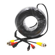 China 30m CCTV Cable with BNC + RCA + Hub Connector Male to Female, UL Approval