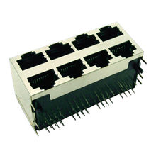 RJ45 Single Port/Multiple Port Stack or Combo Type Vertical DIP Right Angle Colors from Morethanall Co. Ltd
