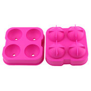 Ice Cube Tray for 4 Ice Cubes, Made of Food Grade Silicone, Durable and Easy to Clean