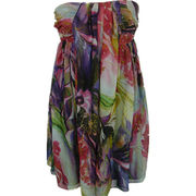 printed silk chiffon dress from China (mainland)