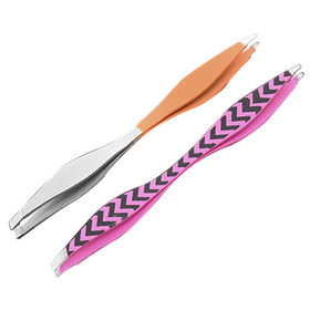 Double ends eyebrow tweezers, can print customized logo