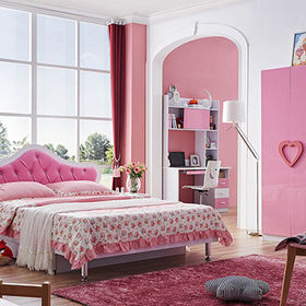 2016 wholesale cheap kids wooden bedroom furniture W08H036