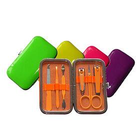 China 6pcs mini neon color manicure set