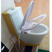 China Mechanical bidet, CB3600 combine bidet function with slow down toilet seat cover, dual nozzles