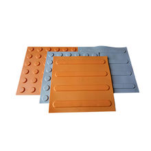 Rubber Safety Blind Way Rubber Tile, with Good Quality