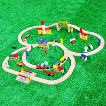 2016 classic baby wooden train railway toys Manufacturer