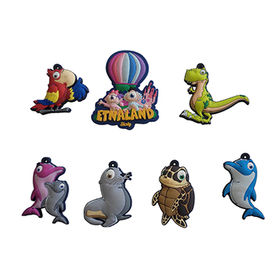 3D Cartoon PVC Rubber Pet Keychains from China (mainland)