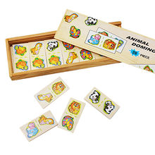 2016 Top fashion educational kid's wooden domino brick, W15A061