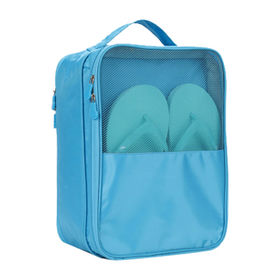 China Portable Waterproof Breathable Shoes Bags with Organizer Pouch Pocket for Traveling