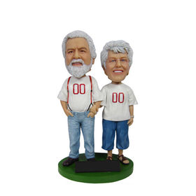 Polyresin Customized Couple Bobble Head Statue for home decoration&promotional Gifts