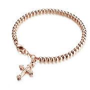 China Fashionable Design Rose Gold-plated Titanium Steel Bracelet for Women